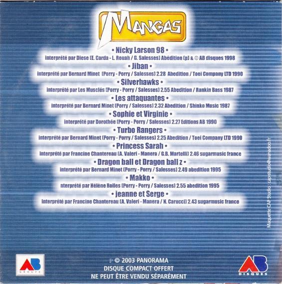 Mangas Génériques Vol 4 (CD, 2003)